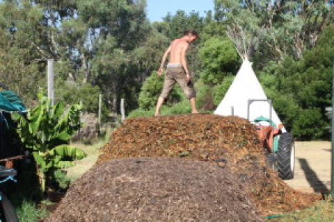 Getting ready for the PDC!……..Hot Water from the Compost