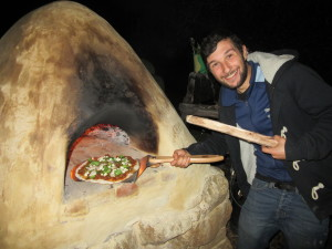 The first pizza!